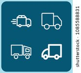 lorry related set of 4 icons...   Shutterstock .eps vector #1085588831