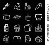 food related set of 16 icons... | Shutterstock .eps vector #1085591774