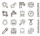 tool related set of 16 icons... | Shutterstock .eps vector #1085591999