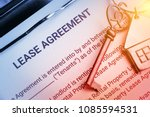 business lease agreement... | Shutterstock . vector #1085594531