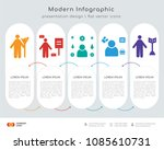 infographics design vector with ... | Shutterstock .eps vector #1085610731