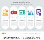 infographics design vector with ... | Shutterstock .eps vector #1085610791