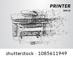 with the printer  the wind... | Shutterstock .eps vector #1085611949