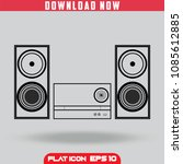 home stereo sound music system. ... | Shutterstock .eps vector #1085612885