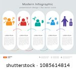 infographics design vector with ... | Shutterstock .eps vector #1085614814