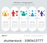 infographics design vector with ... | Shutterstock .eps vector #1085615777