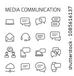 media communication related... | Shutterstock .eps vector #1085616137