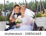 bride and groom in love   Shutterstock . vector #108561665