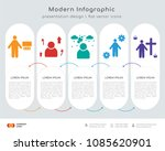 infographics design vector with ... | Shutterstock .eps vector #1085620901