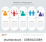 infographics design vector with ... | Shutterstock .eps vector #1085621084