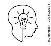 head creating a new idea ...   Shutterstock .eps vector #1085630975