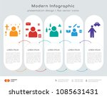 infographics design vector with ... | Shutterstock .eps vector #1085631431
