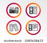 accounting icons. document... | Shutterstock .eps vector #1085638625