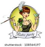 retro party invitation card ... | Shutterstock .eps vector #108564197