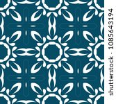 vintage pattern with floral...   Shutterstock . vector #1085643194