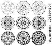 dna molecule fractal network... | Shutterstock .eps vector #1085644904
