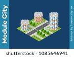 city isometric of urban... | Shutterstock .eps vector #1085646941