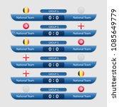 world cup russia 2018. match... | Shutterstock .eps vector #1085649779