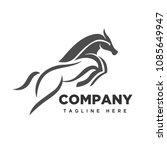 Stock vector jumping horse logo 1085649947