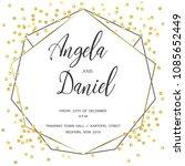 wedding gold dot 3   Shutterstock .eps vector #1085652449