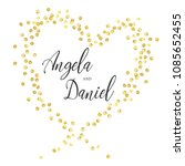 wedding gold dot 3   Shutterstock .eps vector #1085652455