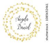 gold wedding rings   Shutterstock .eps vector #1085652461