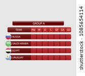 match schedule group a vector... | Shutterstock .eps vector #1085654114