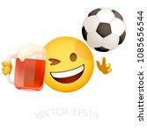football fan emoji. vector... | Shutterstock .eps vector #1085656544