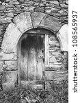 old door in black and white | Shutterstock . vector #108565937