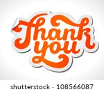 hand lettering thank you ... | Shutterstock .eps vector #108566087
