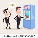 office worker businessman... | Shutterstock .eps vector #1085663477