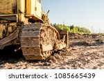 old dirty yellow crawler... | Shutterstock . vector #1085665439