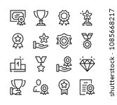 awards line icons set. modern... | Shutterstock .eps vector #1085668217