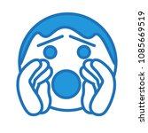 emoji with shouting character... | Shutterstock .eps vector #1085669519
