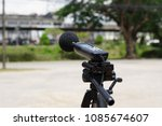 measuring the noise on the road ... | Shutterstock . vector #1085674607