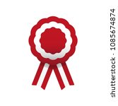 cockade  rosette with ribbon ... | Shutterstock .eps vector #1085674874