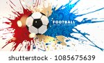 football abstract design... | Shutterstock .eps vector #1085675639