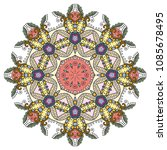 mandala flower decoration  hand ... | Shutterstock .eps vector #1085678495