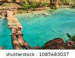 amazing havasupai campground in ... | Shutterstock . vector #1085683037