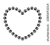 heart shaped frame made of... | Shutterstock .eps vector #1085691014