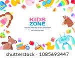 kids zone concept  vector frame ... | Shutterstock .eps vector #1085693447