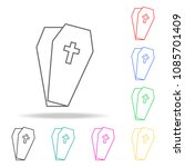 coffin . elements of human... | Shutterstock .eps vector #1085701409