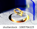 golden comments symbol on the... | Shutterstock . vector #1085706125