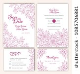 vector set of invitation cards... | Shutterstock .eps vector #1085706881