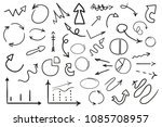 infographic elements on... | Shutterstock . vector #1085708957
