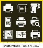 set of 9 printer filled icons... | Shutterstock .eps vector #1085710367