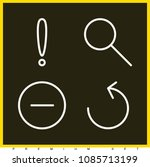 set of 4 round outline icons...   Shutterstock .eps vector #1085713199
