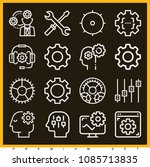 set of 16 settings outline... | Shutterstock .eps vector #1085713835