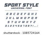 sport style universal font type.... | Shutterstock .eps vector #1085724164