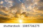 sunset sky with sun light... | Shutterstock . vector #1085736275